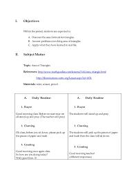 final lesson plan in math 4a u0027s approach