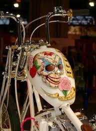 custom painted skull car with custom paint and skull hood