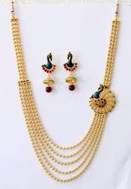 Buy Alankruthi Pearl Necklace Set Pin By Tahmina Akter On Golar Set Pinterest Layering