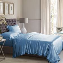 Duvet Covers Teal Blue High Quality Silk Bed Linens Machine Washable