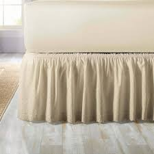 White Bed Skirt Queen Bedrooms Using Fabulous Bedskirt For Charming Bedroom Decoration
