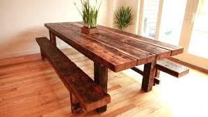 dining table how to make a rustic round dining table bench