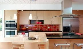 tiles backsplash santa cecilia light granite with dark cabinets