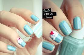 wedding nail art for modern stylish brides pastel teal cupcake nail