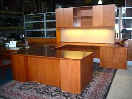 Used U Shaped Desk Executive Tuohy U Shaped Desk With Credenza Hutch In Our
