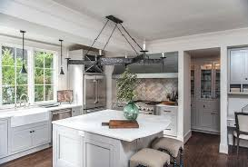 rounded kitchen island island with curved corner countertop transitional kitchen