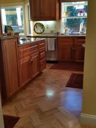what color wood floor looks with cherry cabinets kitchen flooring with cherry cabinets