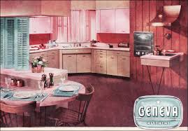 50s Kitchen 1955 Geneva Cabinets Vintage 50s Kitchen In Pink And Turquoise