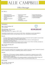 Sample Resume For Office Work by Office Manager Advice Manager Resume Examples 16 Program Manager