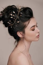 bridal hairstyle ideas emily gold leaf hair vine large u2014 taylor u0026 rose