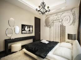Modern Vintage Apartment Design Using Black And White Color Theme - White color bedroom design