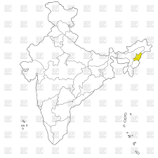 India Map Of States by Map Of States Of India Nagaland Vector Image 42763 U2013 Rfclipart