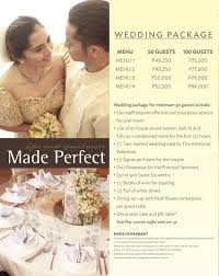 wedding packages the aristocrat restaurant