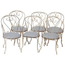 Vintage Wrought Iron Patio Table And Chairs Cast Iron Patio Furniture For Sale G099 S Pair Vintage French