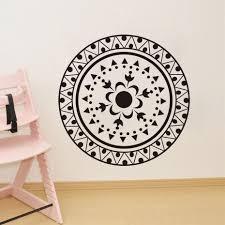 Wall Decals Mandala Ornament Indian by Aliexpress Com Buy Dctop Mandalas Flower Black Wall Stickers