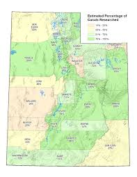 Map Utah Division Of Water Rights Inventories Irrigation Canals In Utah