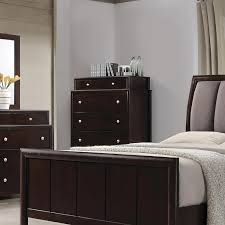 coaster madison upholstered bedroom set dark merlot 204881