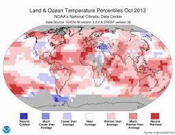october 2013 earth s 7th warmest october thanksgiving nor