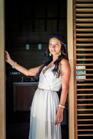 beautiful bride in overwater bungalow in the four seasons bora