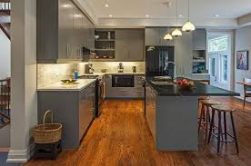 Black Kitchen Cabinets With White Appliances by Grey Kitchen Cabinets With Black Appliances Outofhome