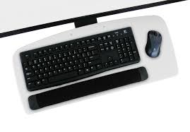 Amazon Com Vivid White Under Desk Ergonomic Keyboard Tray With