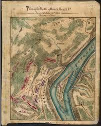 Map Of Loudoun County Va Plan Of The Battle Of Ball U0027s Bluff Va Fought October 21st 1861