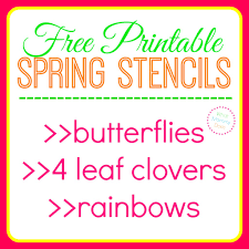 free printable butterfly stencils four leaf clover patterns
