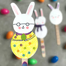 cute easter bunny puppet craft jcfamilies