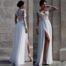 lace beach wedding dresses with sleeves naf dresses