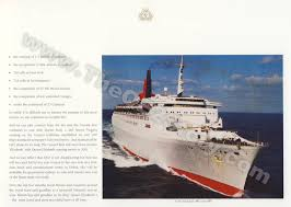 Queen Elizabeth Ii Ship by The Qe2 Story Final Voyage Menus