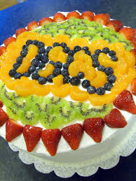 Flag Fruit Cake Party Cakes Best Yellow Layer Cake With Pastry Cream And Fresh