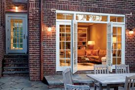 Garage French Doors - a garage turned family room old house restoration products