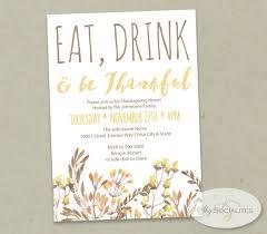 thanksgiving party invite eat drink u0026 be thankful floral invitation u2014 shy socialites