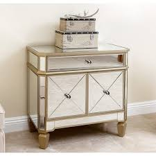 abbyson alexis gold trim mirrored console cabinet free shipping