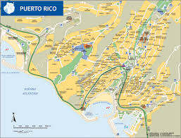 Puerto Rico On A Map by Puerto Rico De Gran Canaria Tourist Map