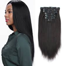 gray hair pieces for american amazon com african american clip in human hair extensions