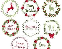 clip art christmas wreath template u2013 merry christmas u0026 happy new