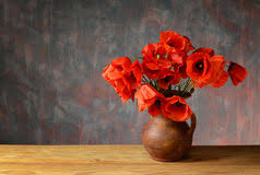 Vase With Red Poppies Red Poppies In A Vase Stock Photo Image 77365002