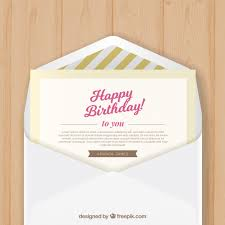 birthday envelope with birthday greeting card vector free download