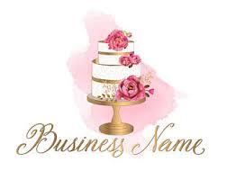 wedding cake logo cake logo etsy