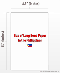 Resume Bond Paper Standard Paper Size Resume Philippines Size Of Long Bond Paper In
