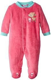 baby gear baby newborn velboa deer pajama sleeper with