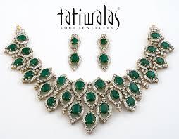 diamond necklace sets images Emerald diamond necklace set nscs269 buy polki diamond indian jpg