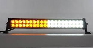 warning light bar amber 21 5 amber white color changable off road strobe light bar