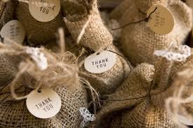 burlap wedding favor bags diy coffee bag favors ruffled