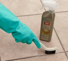 how to clean grout between foor tiles