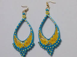 latest quilling earrings beautify themselves with earrings
