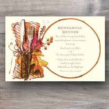 Rehearsal Dinner Invitations Harvest Supper Thanksgiving Rehearsal Dinner Invitations