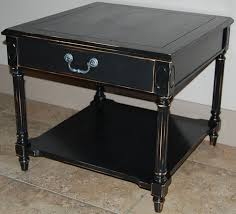 distressed black end table captivating black end tables and 25 best refinished end tables ideas