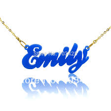 Cursive Name Necklace Custom Name Necklace Katy Styles Name Necklace Compare Prices On